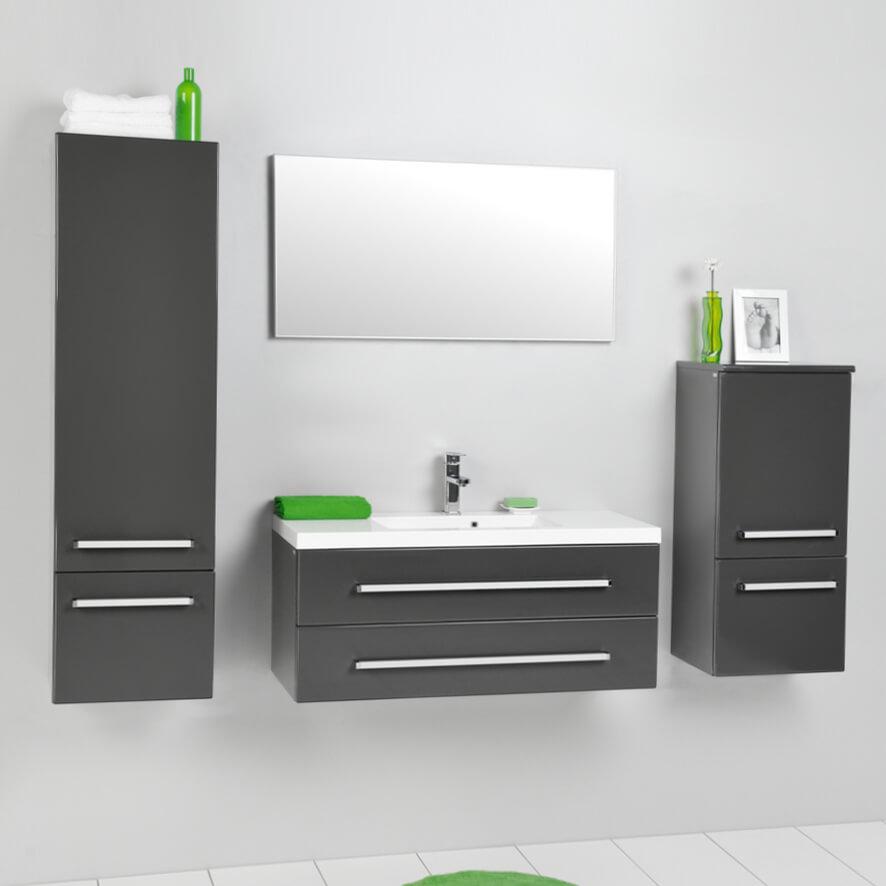 Badezimmermöbel holz grau  Badezimmermöbel Badmöbel Set Waschtisch Hochschrak Antik Holz Grau ...