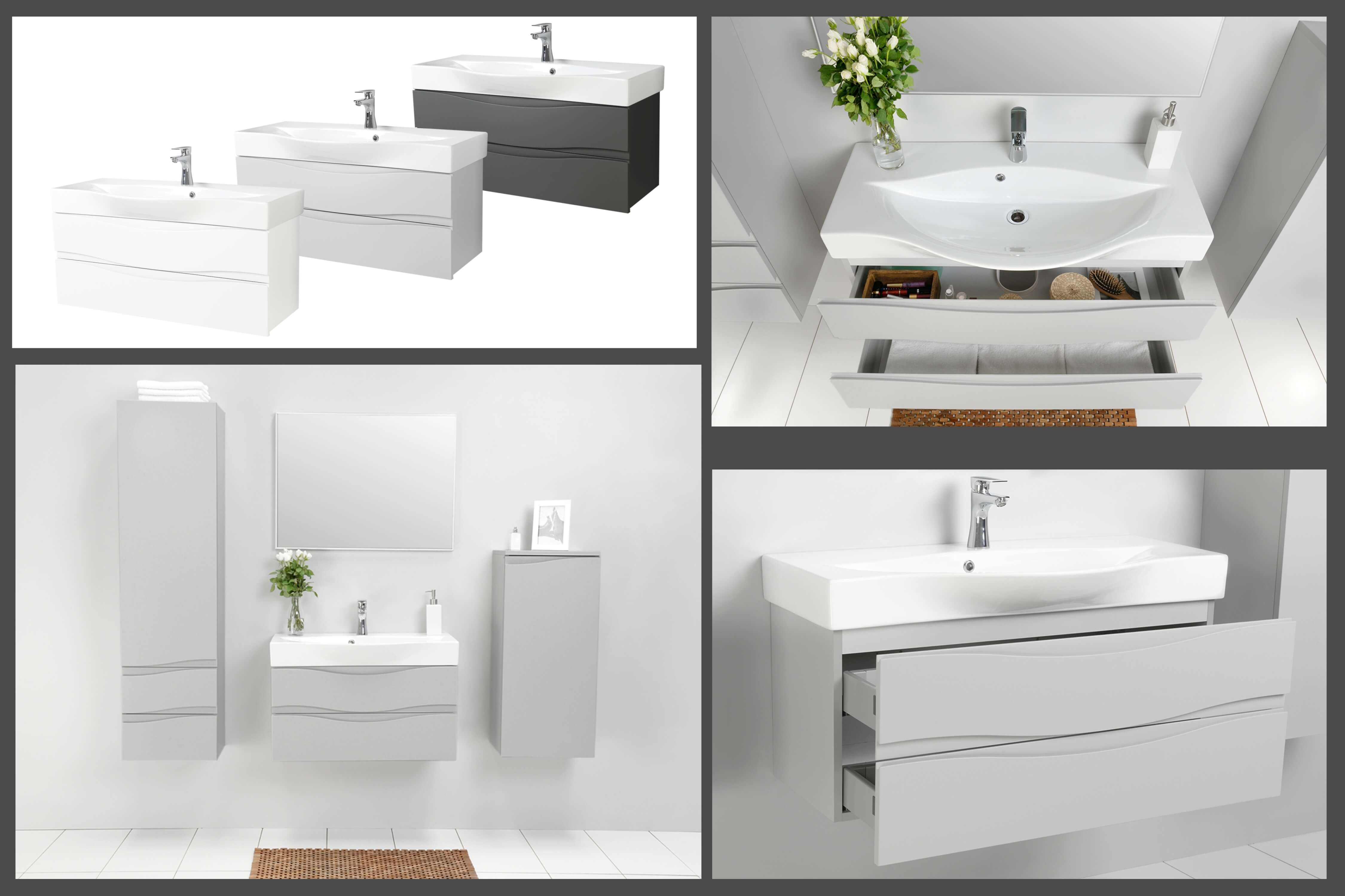 Badezimmerm bel badm bel set waschtisch hochschrank for Badezimmermobel im angebot