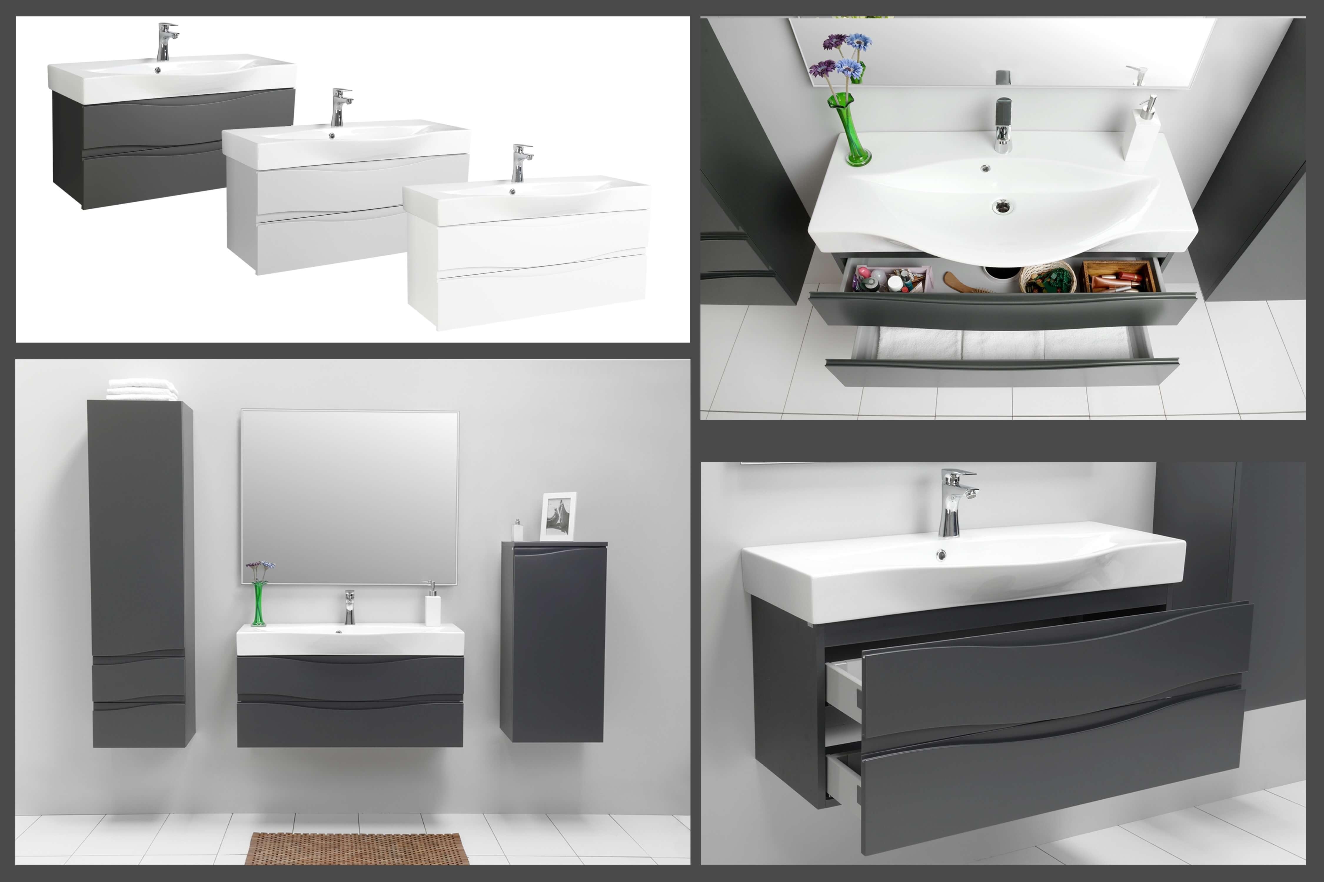 badezimmerm bel badm bel set waschtisch hochschrank. Black Bedroom Furniture Sets. Home Design Ideas