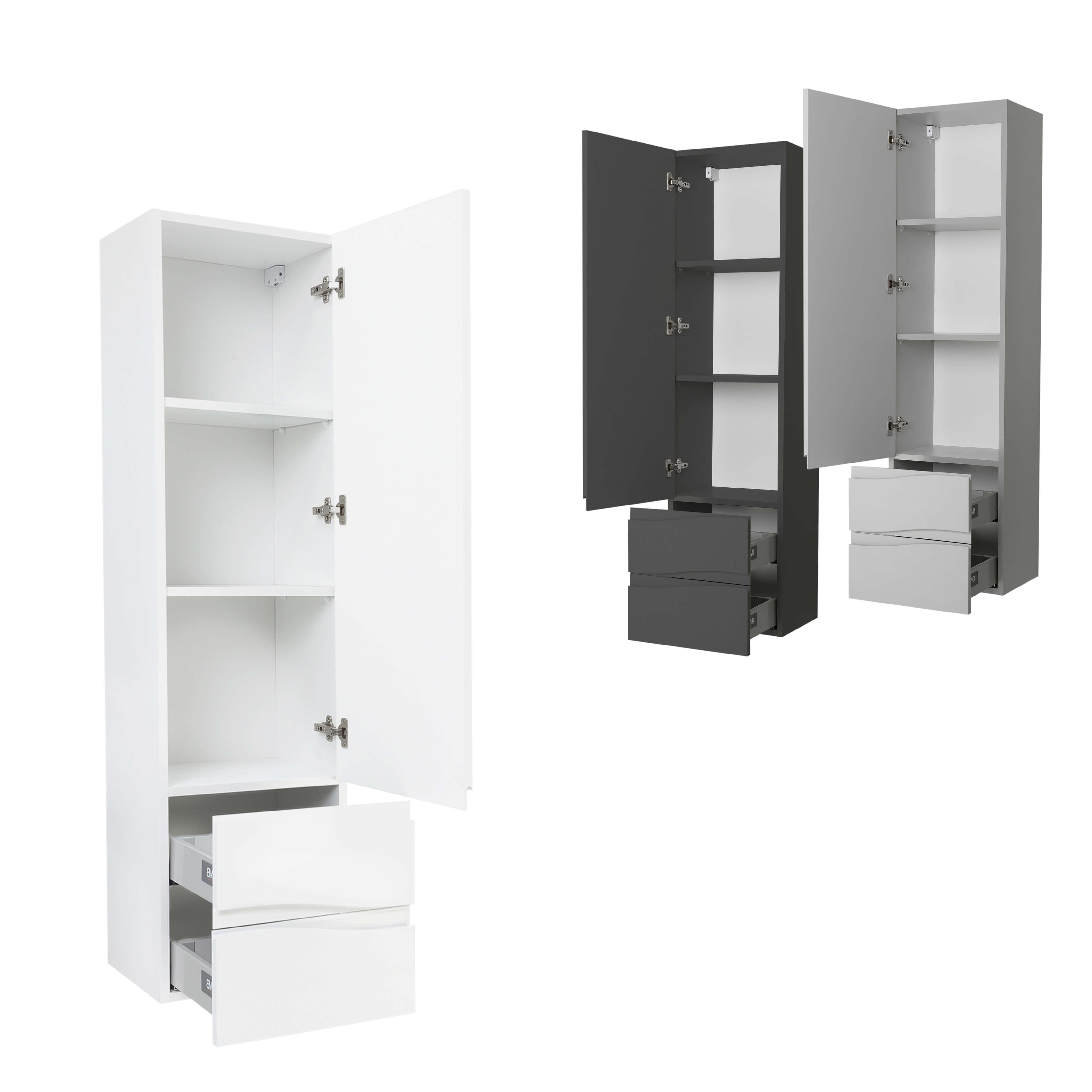 Badezimmermöbel Badmöbel Set Waschtisch Hochschrank